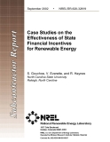 Case Studies on the  Effectiveness of State  Financial Incentives for Renewable Energy
