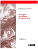 Farm Business Management for the 21st Century: Checking Your Farm Business Management Skills