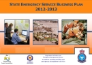 STATE EMERGENCY SERVICE BUSINESS PLAN 2012-2013