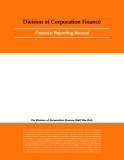 Division of Corporation Finance - Financial Reporting Manual