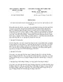 Thông báo số 4606/TB-BLĐTBXH