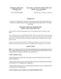 Nghị quyết số 29/2012/NQ-HĐND