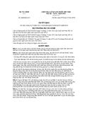 Quyết định số 3063/QĐ-BTC