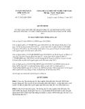 Quyết định số 71/2012/QĐ-UBND