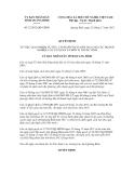 Nghị quyết số 32/2012/QĐ-UBND