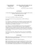 Quyết định số 66/2012/QĐ-UBND