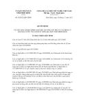 Quyết định số 50/2012/QĐ-UBND