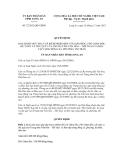 Quyết định số 72/2012/QĐ-UBND