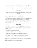 Quyết định số 1837/QĐ-TTg