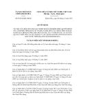 Quyết định số 39/2012/QĐ-UBND