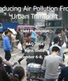 Reducing Air Pollution from Urban Transport