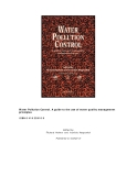 Water Pollution Control: A guide to the use of water quality management  principles - R. Helmer