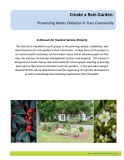 Create a Rain Garden:   Preventing Water Pollution in Your Community