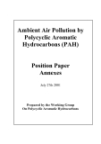 Ambient Air Pollution by Polycyclic Aromatic Hydrocarbons (PAH): Position Paper Annexes