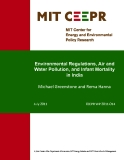 Environmental Regulations, Air and  Water Pollution, and Infant Mortality  in India