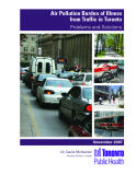 Air Pollution Burden of Illness  from Traffic in Toronto: Problems and Solutions