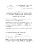 Quyết định số 327/QĐ-QLD