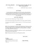 Quyết định số 2073/QĐ-TTg