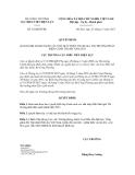 Quyết định số 52/QĐ-ĐTĐL