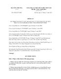 Thông tư số  43/2012/TT-BCT