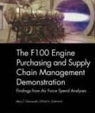 The F100 Engine Purchasing and Supply Chain Management Demonstration - Findings from Air Force Spend Analyses