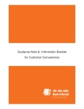 Guidance Note &  Information Booklet for Customer Convenience