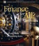 FINANCE  FOR ALL? - A World Bank Policy Research Report