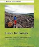 Justice for Forests Improving Criminal Justice Efforts  to Combat Illegal Logging