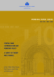 WORKING PAPER SERIES NO 898 / MAY 2008: CENTRAL BANK COMMUNICATION  AND MONETARY POLICY A SURVEY OF THEORY AND  EVIDENCE