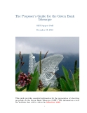 The Proposer's Guide for the Green Bank Telescope: GBT Support Staff