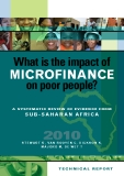What is the impact of  microfinance  on poor people? a sysTemaTic review of evidence from   sub-saharan africa