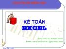 Bài giảng Kế toán Excel - Nguyễn Ngọc Minh