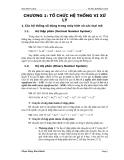 Giáo trình vi xử lý - Chương 1: Tổ chức hệ thống vi xử lý