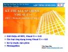 LẬP TRÌNH WINDOWS - KỸ THUẬT LẬP TRÌNH VISUAL C++(MFC – Microsoft Foundation Classes)