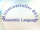 Microcontroller 8051 - assembly language