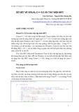 Sơ nét về Visual C++ 6.0 và thư viện lập trình MFC - SƠ NÉT VỀ VISUAL C++ 6.0 VÀ THƯ VIỆN MFC