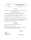 Quyết định số 1112/QĐ-BXD