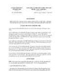 Quyết định số 2526/QĐ-UBND