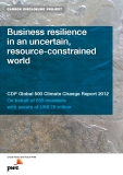 Business resilience   in an uncertain,  resource-constrained  world