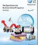The Open University   Business School Prospectus  2012/2013: Undergraduate and Postgraduate study