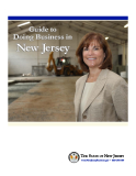 Guide to  Doing Business in    New Jersey