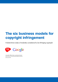 The six business models for  copyright infringement: A data-driven study of websites considered to be infringing copyright
