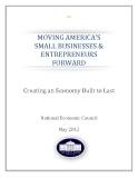 MOVING AMERICA'S  SMALL BUSINESSES & ENTREPRENEURS  FORWARD