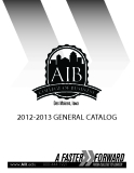 2012-2013 GENERAL CATALOG: A FASTER FORWARD