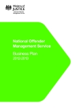 National Offender  Management Service: Business Plan 2012-2013