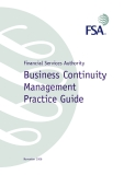 Financial Services Authority Business Continuity Management  Practice Guide