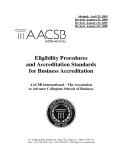 Eligibility Procedures  and Accreditation Standards  for Business Accreditation