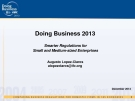 Doing Business 2013:  Smarter Regulations for   Small and Medium-sized Enterprises