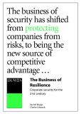 The Business of  Resilience Corporate security for the  21st century