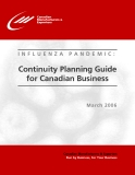 INFLUENZA PANDEMIC: Continuity Planning Guide  for Canadian Business